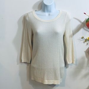 NWOT The Limited Cream Knit Sweater